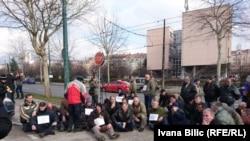 Protest ratnih veterana u februaru ove godine