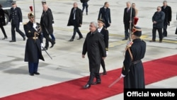 Прибытие президента Армении Сержа Саргсяна в Париж. 7 марта 2017 г.