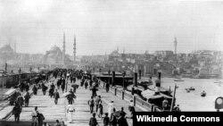 Turkey -- Galata Bridge, Istanbul, 19th century