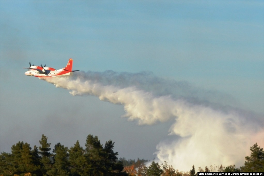 Three planes and three helicopters were used to drop water on the wildfires. According to the Emergency Situations Service, more than 530 tons of water were dropped on the fires as of April 13.