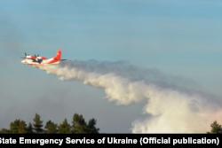 Тушение лесных пожаров под Припятью с воздуха, 13 апреля 2020 года