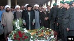 Церемония прощания с одним из лидеров «Хезболлах», погибшим при ударе израильской авиации
