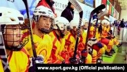Кыргызстандын хоккей боюнча улуттук курама командасы Кышкы Азия оюндарында. Саппоро. Жапония. 18-февраль, 2017-ж.