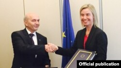 Kryeministri i Kosovës, Isa Mustafa dhe perfaqësuesja e lartë e BE-sw, Federica MOgherini