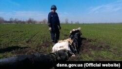 Роботи з розмінування на полях поблизу Балаклії (фото ДСНС)