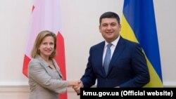 Кріста Марквальдер і Володимир Гройсман
