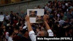 Tbilisi parlamentinin qarşısı, 24 iyun, 2019-cu il