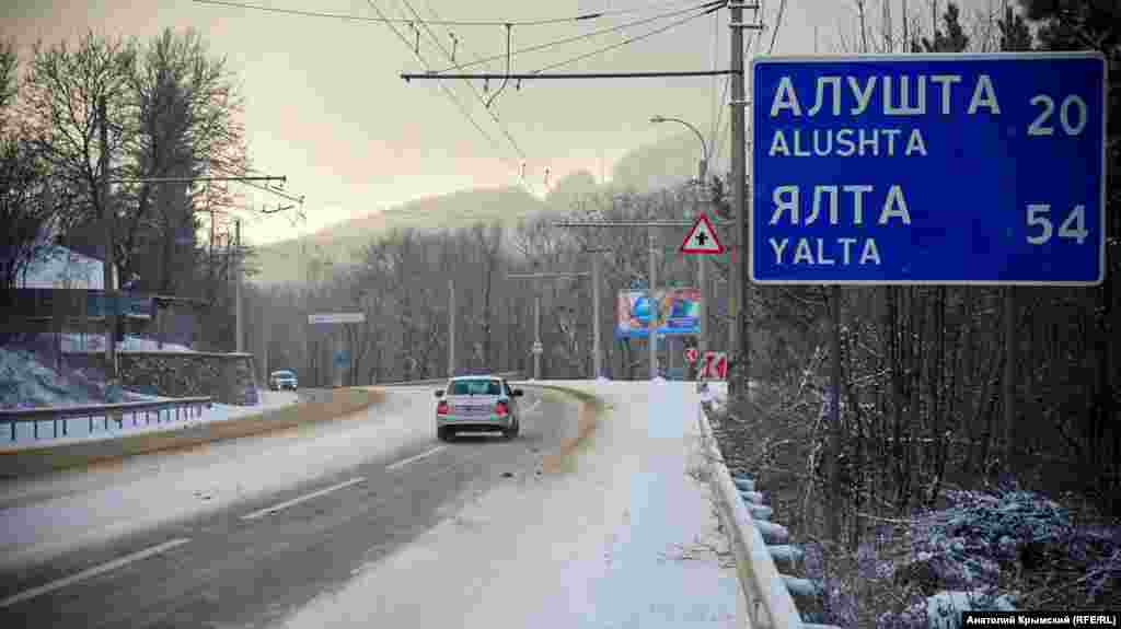 Снег не создал проблем водителям на Ангарском перевале