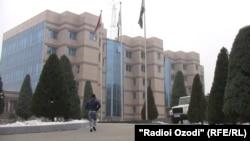 Здание Нацбанка Таджикистана в Душанбе.