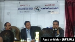 خلال الندوة الخاصة بالمراسل الحربي، بغداد، 7 آذار 2015