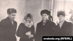 Іван Чыгрынаў, Іван Пташнікаў, Валянціна Пташнікава, Барыс Сачанка. 1964 г.