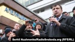 Михаил Саакашвили, бывший президент Грузии и бывший губернатор Одесской области Украины. Киев, 3 января 2018 года.