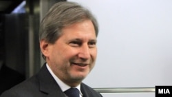 Еврокомесарот за проширување и добрососедска политика Јоханес Хан