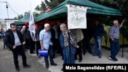 Акция голодовки мешинистов столичного метро