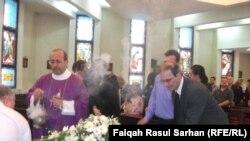 جثمان الراحل غانم حداد في كنيسة بعمّان