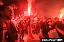 Festimet e tifozëve të Vardarit pas shpalljes Kampion të Evropës në hendboll