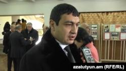 Armenia -- Abovyan Mayor Karapet Guloyan is interviewed by to RFE/RL, Abovyan, 31Jan2013.