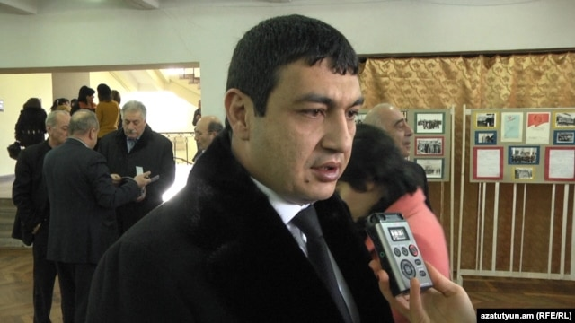 Armenia -- Abovyan Mayor Karapet Guloyan is interviewed by to RFE/RL, Abovyan, 31Jan2013.