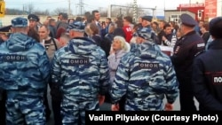 Ульяновск. Жители микрорайона протестуют против строительства