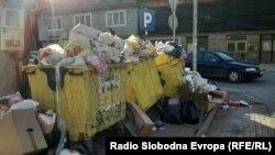 Ѓубре во Тетово, преполни контејнери
