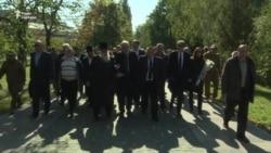 Флешмоб з нагоди роковин трагедії Бабиного Яру відбувся у Києві (відео)