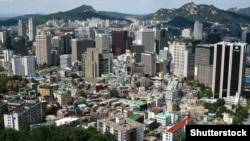 Вид на Сеул, Южная Корея.
