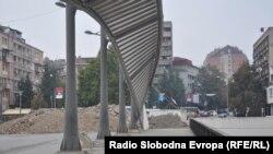 Srpske barikade na mostu u Mitrovici, 24.oktobar 2011. foto: Amra Zejneli