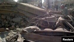 Взрыв автомобиля в сирийском городе Камышлы
