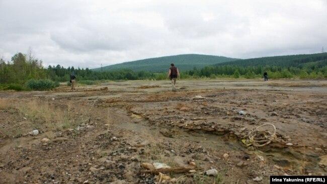 Река Рыбная в Красноярском крае после золотодобытчиков