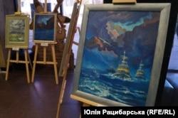 Картини на виставці «Повернення додому». Дніпро, 19 квітня 2019 року