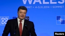 Украина президент Петр Порошенко. Ұлыбритания, 4 қыркүйек 2014 жыл.