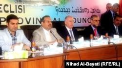 النجيفي ومسؤولون من كركوك في مؤتمر صحفي