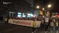 Protest '1 od 5 miliona' u znaku studenata