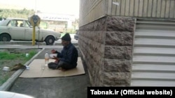 پیرمرد رها شده در تهران؛ عکس از تابناک