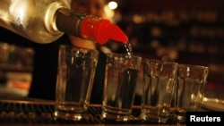 Amid a spate of poisonings hard liquor has already been banned in the Czech Republic until further notice.