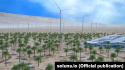 Так будет выглядеть ветряная электростанция и биткоин-ферма по замыслу компании Soluna