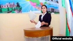 Pamje nga zgjedhjet në Uzbekistan