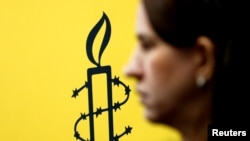Logo Amnesty International, ilustracija