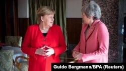 Kancelarja gjermane, Angela Merkel dhe kryeministrja britanike, Theresa May