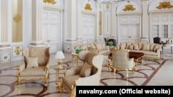"""Компьютерная модель одной из комнат во """"дворце Путина"""" под Геленджиком из расследования Фонда борьбы с коррупцией"""