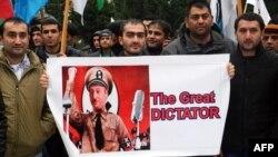 Әзербайжан оппозициясы өкілдерінің наразылығы. Баку, 27 қазан 2013 жыл.
