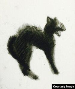 Малюнок Микити Кадана для акції #CatsForTundra