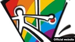 """Логотип """"Кыргыз Индиго"""", организации ЛГБТ-сообщества Кыргызстана."""