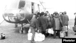 Евакуація вірменських біженців із Нагірного Карабаху, 1989 рік (Photolure)