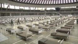 Військові Сербії перетворили виставковий зал Белграду на тимчасову лікарню – відео