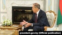 Министр иностранных дел России Сергей Лавров. Минск, 29 мая 2018 года.