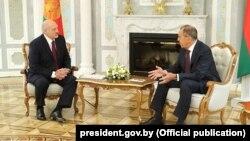 Сустрэча Аляксандра Лукашэнкі і Сяргея Лаўрова, травень 2020