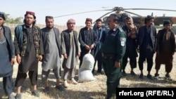 IS militants surrender to Afghan forces in Jowzjan Province on August 1.