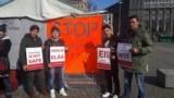 FILE: Afghan asylum seekers protest in Sweden.
