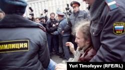 Вот так в России принято разбираться с участниками акций протеста